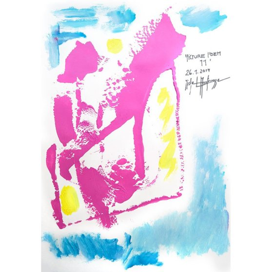 'Picture Poem 11' - painting by Michel Montecrossa