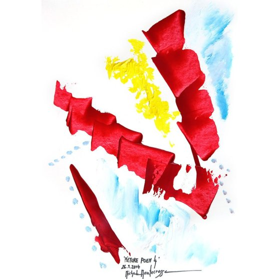 'Picture Poem 4' - painting by Michel Montecrossa
