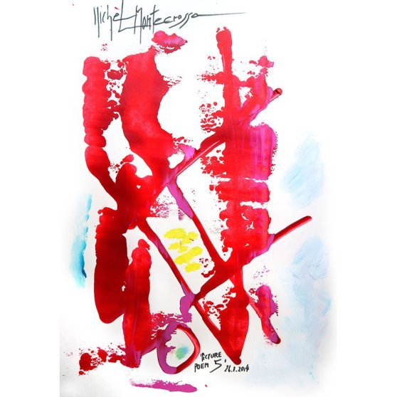 'Picture Poem 5' - painting by Michel Montecrossa