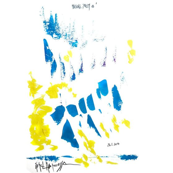 'Picture Poem 8' - painting by Michel Montecrossa
