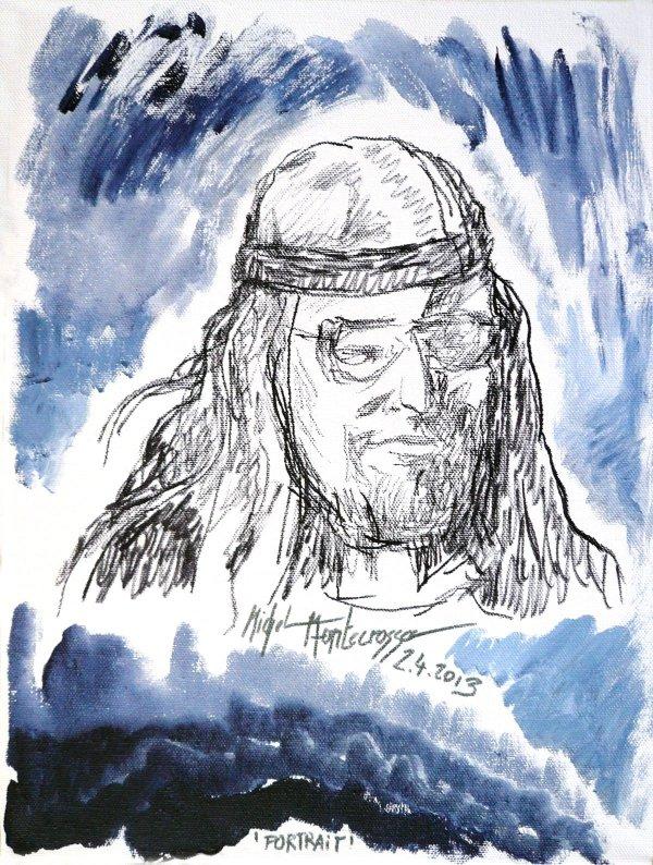 Painting by Michel Montecrossa - Portrait
