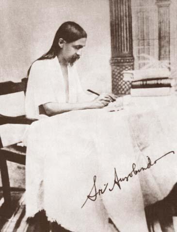 Sri Aurobindo writing