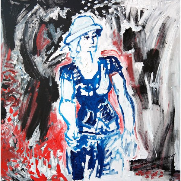 Sabrina In The Garden Of Consciousness - painting by Michel Montecrossa
