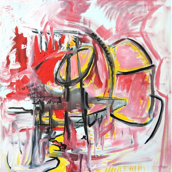 Self Delight Of Forms - painting by Michel Montecrossa