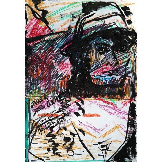 Stärke & Junges Zeichen - painting by Michel Montecrossa