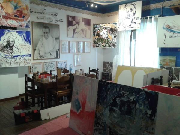 Michel Montecrossa's The Energy of Art Exhibition- Work in Progress, Pic 1