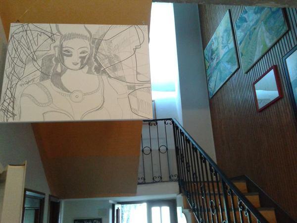 Michel Montecrossa's The Energy of Art Exhibition- Work in Progress, Pic 2