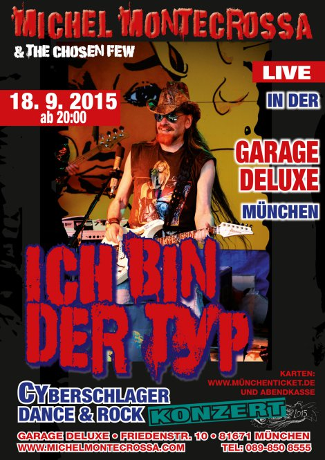 Ich-bin-der-Typ-Garage-Konzert-Plakat
