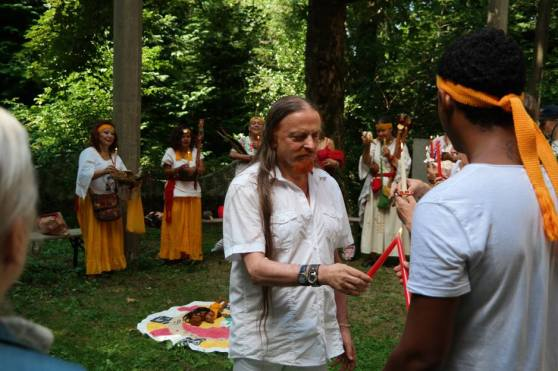 visit of Venerable Abuela Nah Kin, the spiritual leader of the Solar Mayan Tradition and friends performing the Maya Eagle Energy Ceremony at the Miravinci, 1
