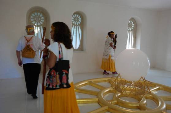 visit of Venerable Abuela Nah Kin, the spiritual leader of the Solar Mayan Tradition and friends performing the Maya Eagle Energy Ceremony at the Miravinci, 4
