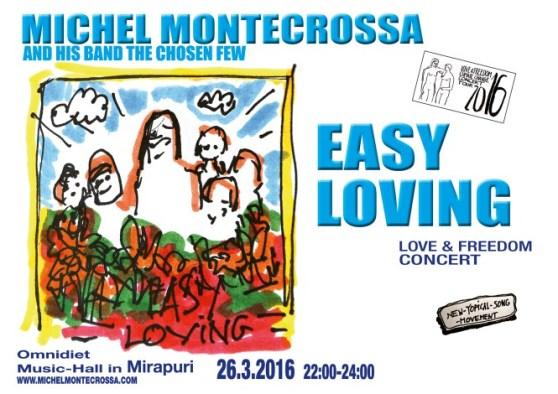 Concert Poster - Michel Montecrossa's 'Easy Loving' Concert