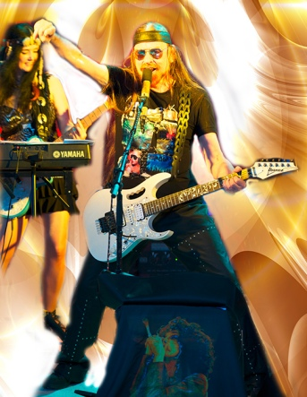 Michel Montecrossa & Mirakali - Digital Art (Spirit of Woodstock Festival 2016 Poster Close-Up)