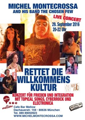 'Rettet Die Willkommens Kultur' Konzert für Frieden und Integration in der Cafe Bar Mellow