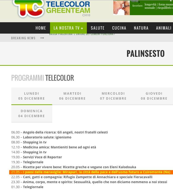 Telecolor TV - Palinsesto