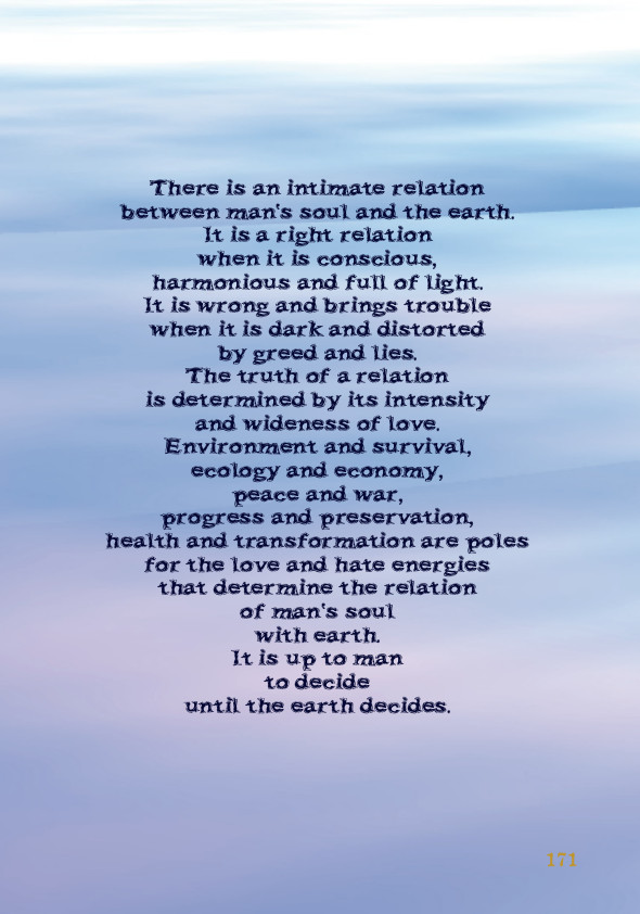 Man' Soul and the earth - Quote