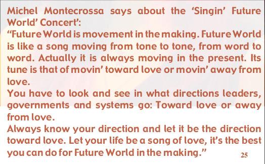quote Singin' Future World Concert