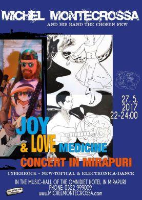 Concert Poster - Michel Montecrossa's 'Joy & Love Medicine Concert'