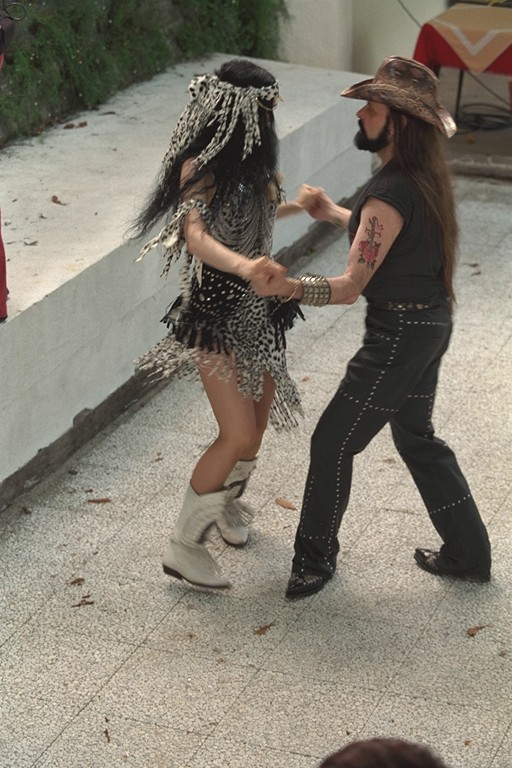 Michel Montecrossa & Mirakali dancing at the Spirit of Woodstock Festival