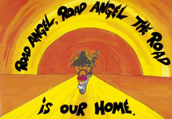Road Angel 1 - painting by Mirakal