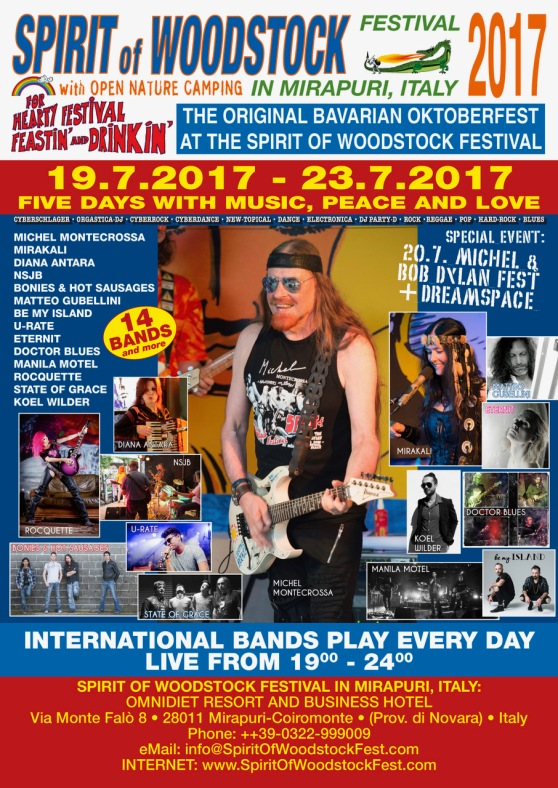 Spirit of Woodstock Festival 2017 Poster