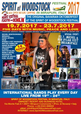 Spirit of Woodstock Festival 2017 - Poster