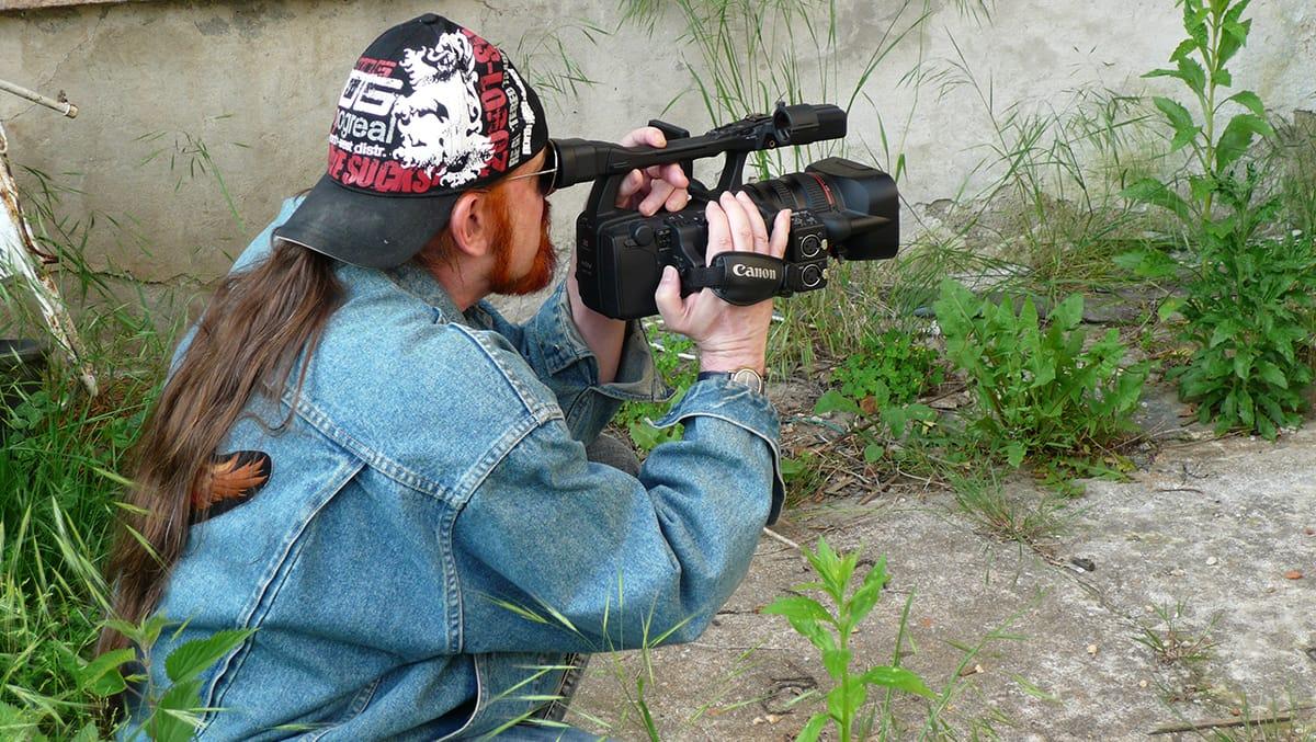 Michel Montecrossa - Filmmaker - the artist at work